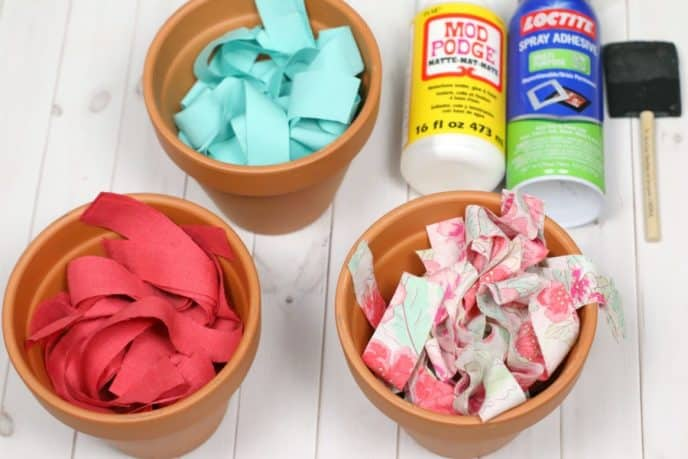 Decoupage flower pot materials