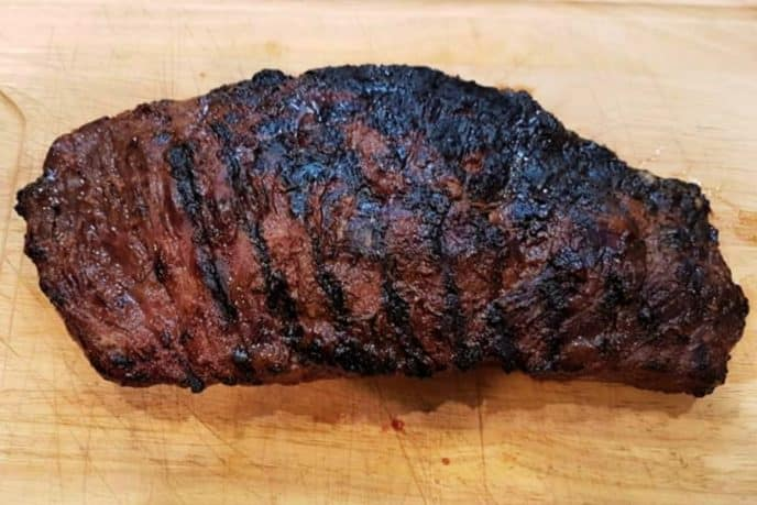 Marinated flank steak fresh off the grill