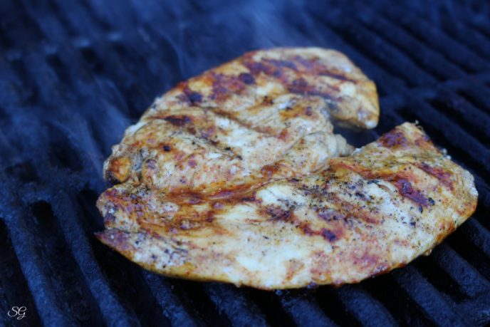 Grilling chicken breast