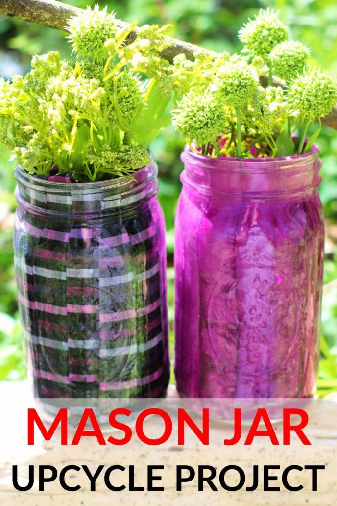 Mason Jar Craft Project - DIY Flower Vases