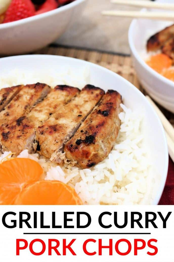 Easy grilled curry pork chop recipe