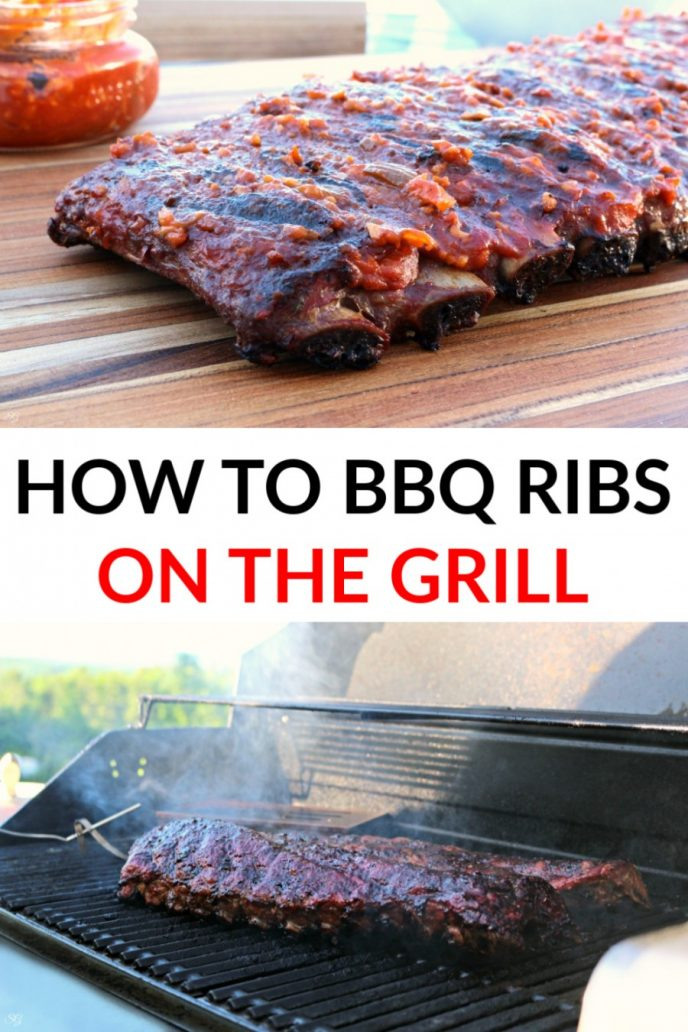 How to make BBQ ribs on the grill. Instructions for gas and charcoal grills.
