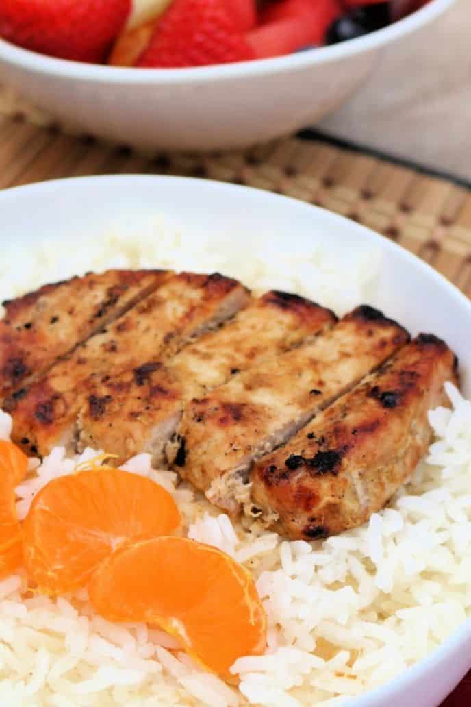 Easy pork chops recipe on the BBQ grill