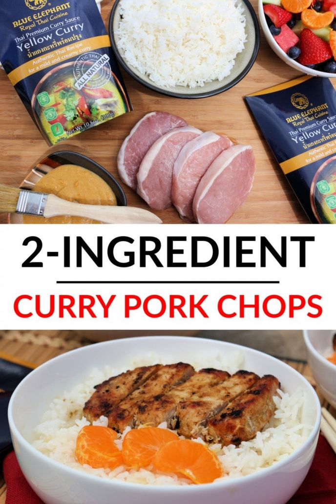 Grilled Curry Pork Chops Recipe. Grilling pork chops on the barbecue after being coated in curry sauce!