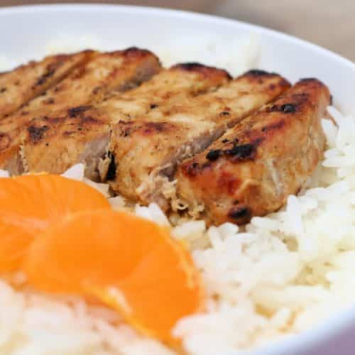 Grilled Curry Pork Chops
