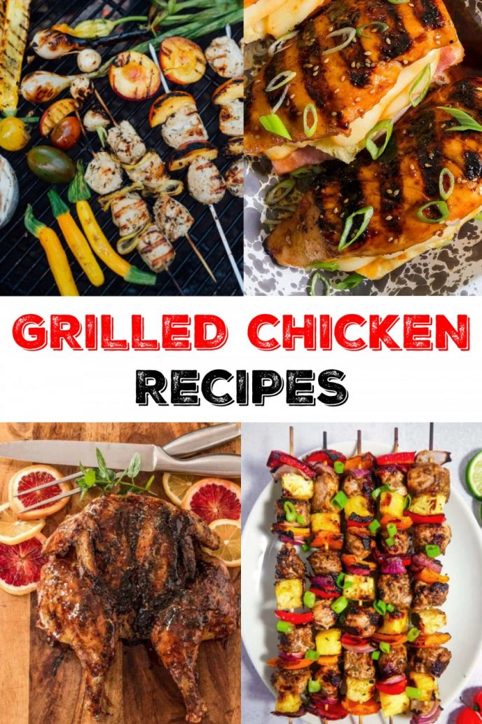 Best Grilled Chicken Recipes - fire up the BBQ and cook chicken on the grill with these delicious recipes!