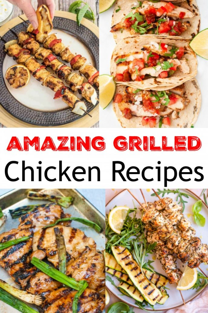 Grilled chicken recipes, an assortment of the best grilled chicken recipes.