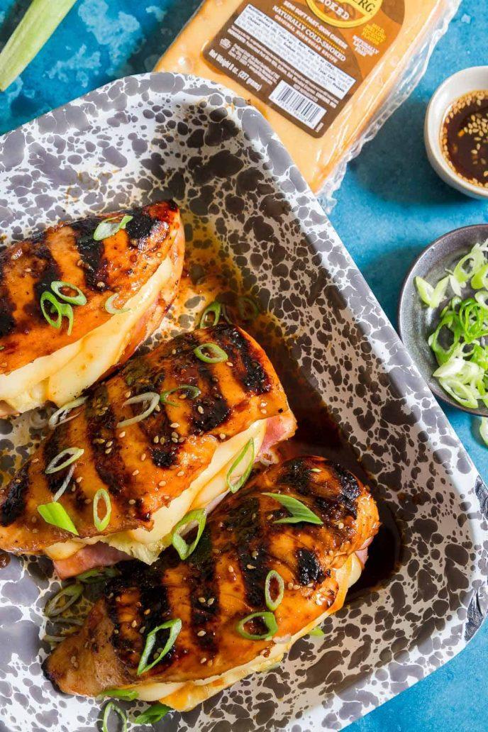 Grilled stuffed Hawaiian chicken recipe