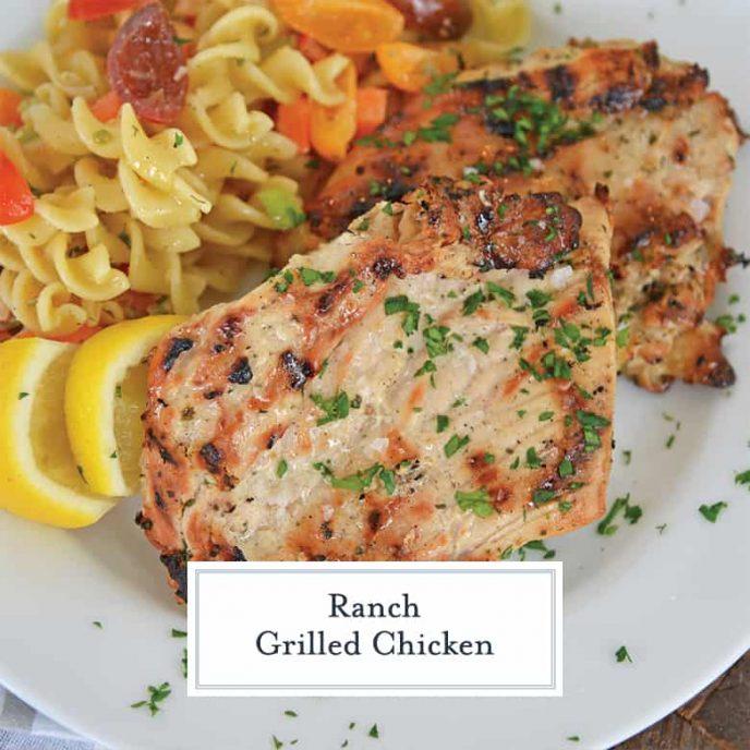 5 ingredient grilled ranch chicken