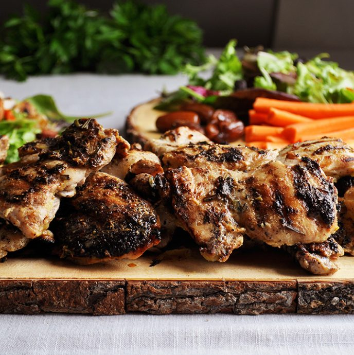 Grilled lemon-rosemary chicken recipe