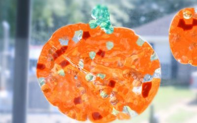 DIY Suncatchers Fall Pumpkin Decor