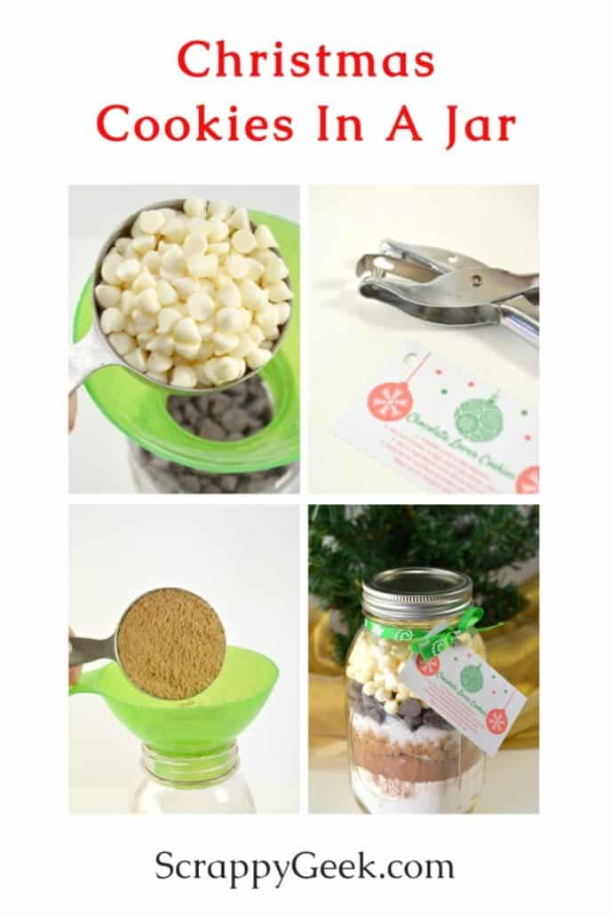 Christmas cookies in a jar recipe for gifting