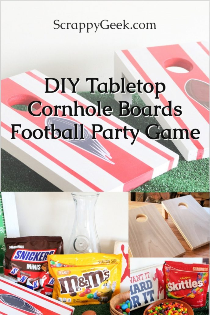 How to build tabletop cornhole boards, an easy DIY project.