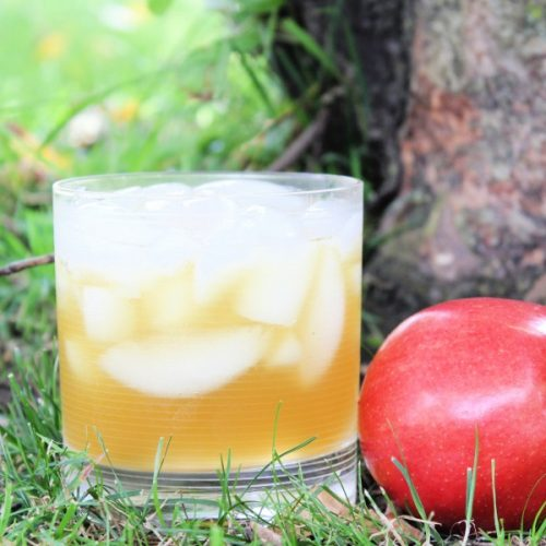 Apple cider, rum, and ginger beer Thanksgiving drink recipe