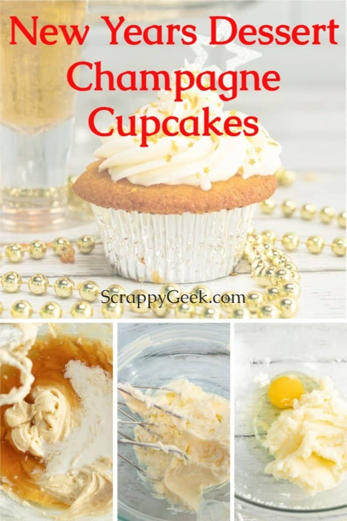 Champagne Cupcakes for New Years dessert