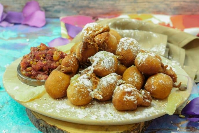 Mardi Gras beignets with flavor, orange-vanilla delicious beignets recipe
