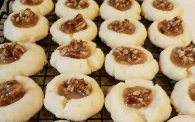 Thumbprint Cookies with Pecan Pie Filling