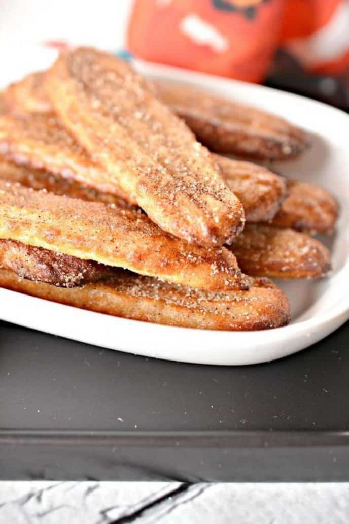 Keto churro sticks for dessert in your air fryer
