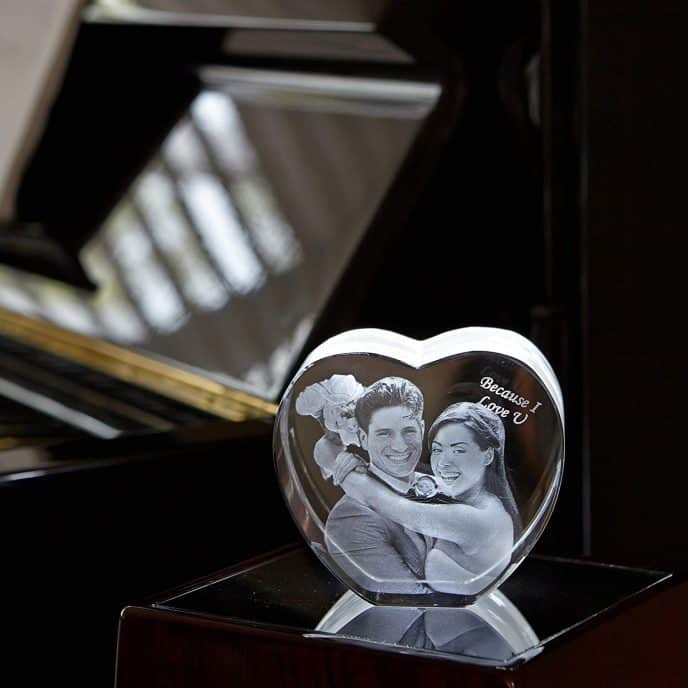3D photo engraved heart for Valentines Day
