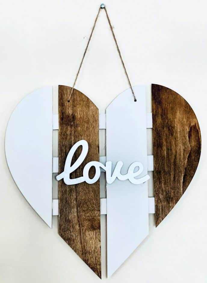 Valentines Day gift idea LOVE heart sign