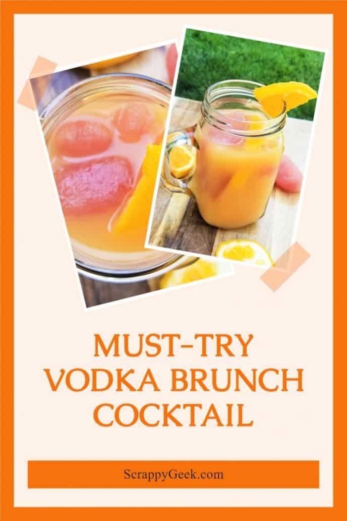 Brunch cocktail with vodka, cranberry juice, and orange juice.