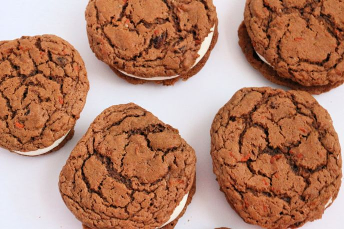 Carrot cake cookies from cake mix, these easiest way to make them.