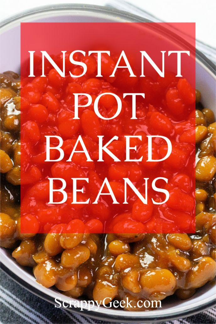 Instant pot baked beans from scratch.