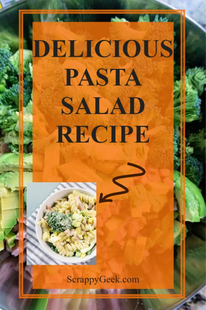 Delicious pasta salad recipe with homemade dressing.