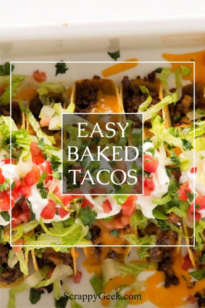 Baked tacos. A recipe for baked beef tacos in the oven.