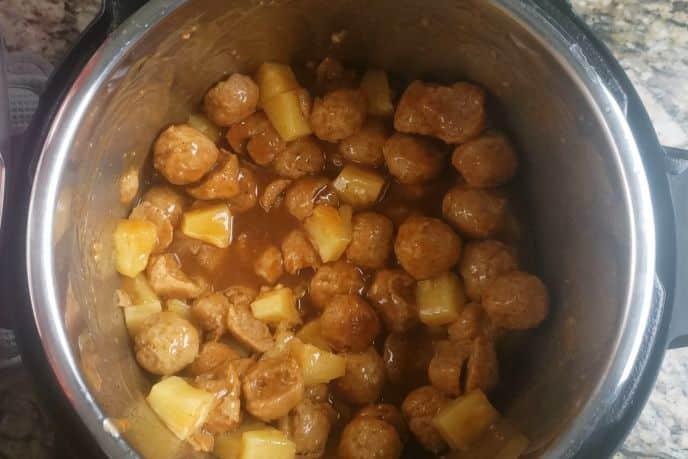 Pineapple meatballs instant pot recipe