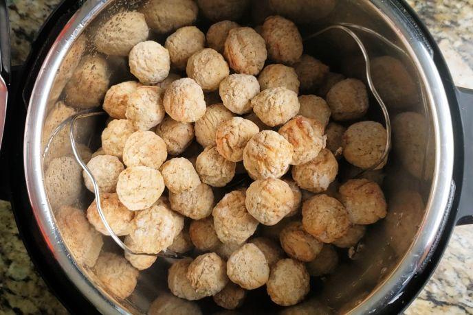 Frozen meatballs in instant pot