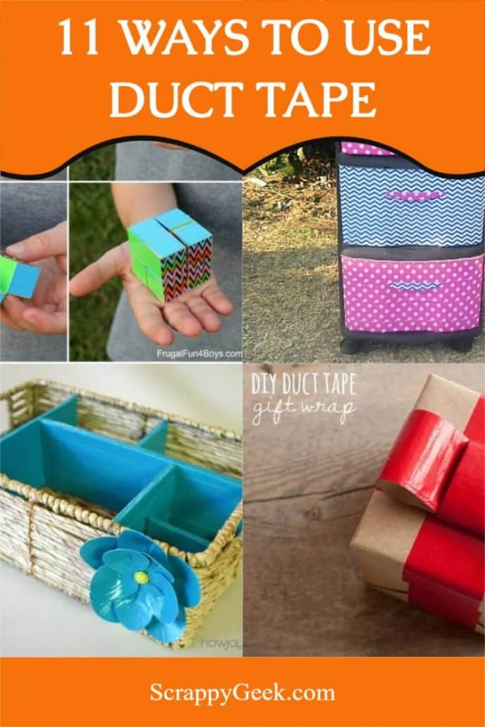 Duct tape uses that you usually wouldn't use duct tape for like home decor, crafting and more.