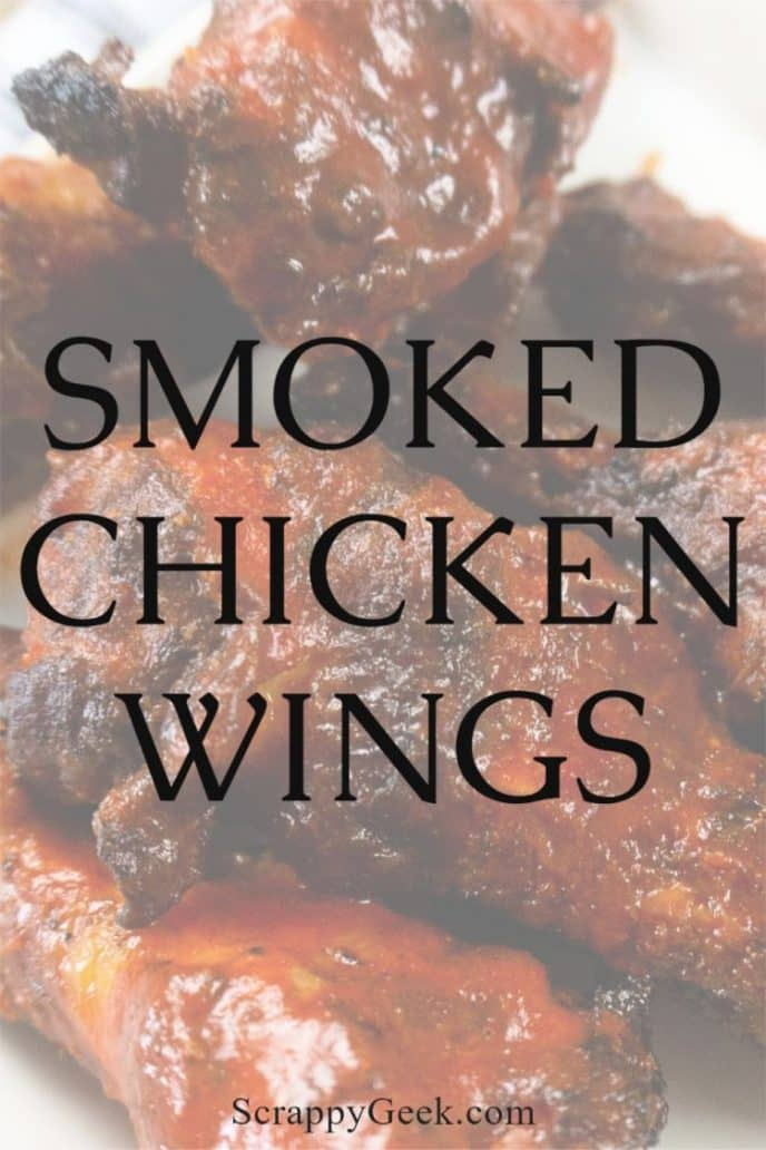 BBQ smoked chicken wings