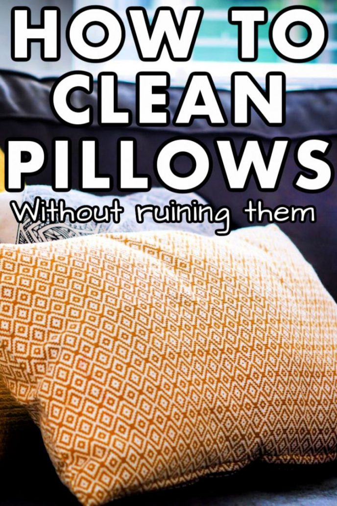 How to wash pillows without ruining them.