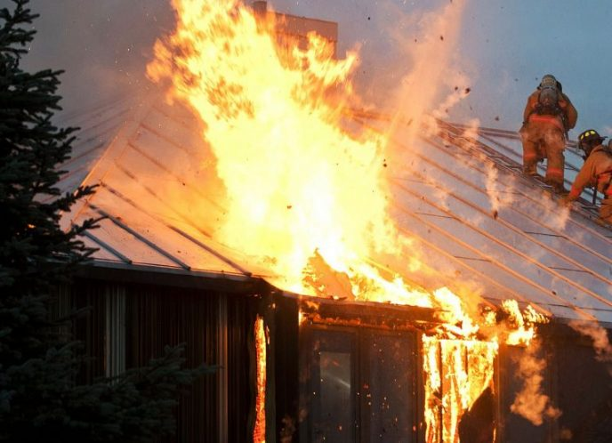 House fire from overloaded power strips