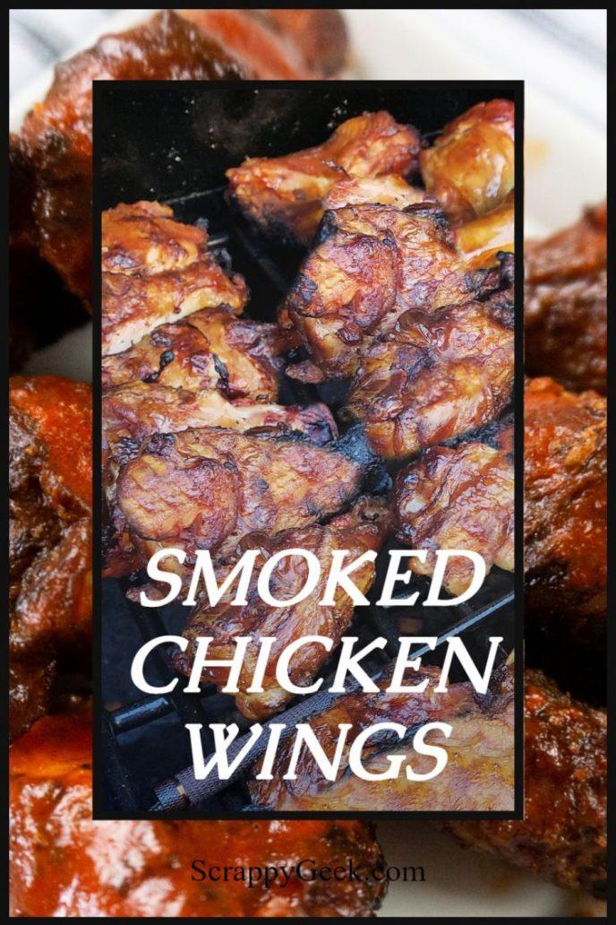 Smoked chicken wings on BBQ smoker