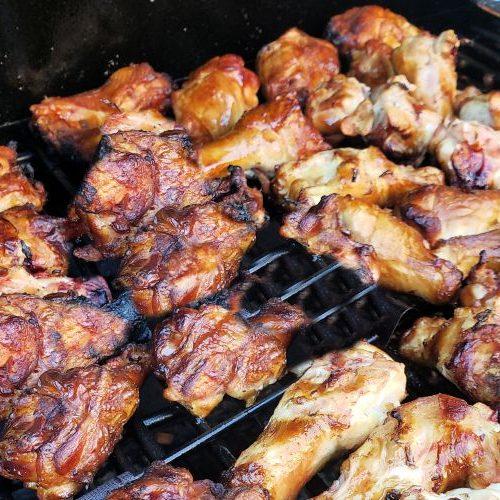 smoking chicken wings on a smoker