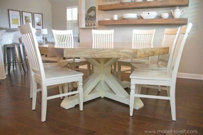 Cool octagon farmhouse style table