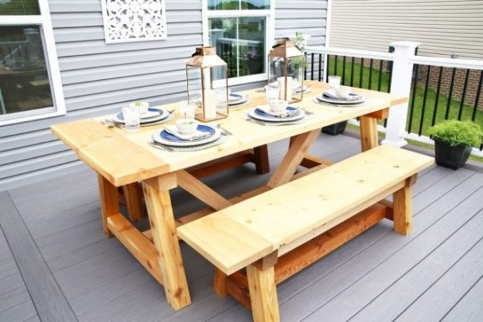 Truss and Beam Farmhouse Outdoor Table