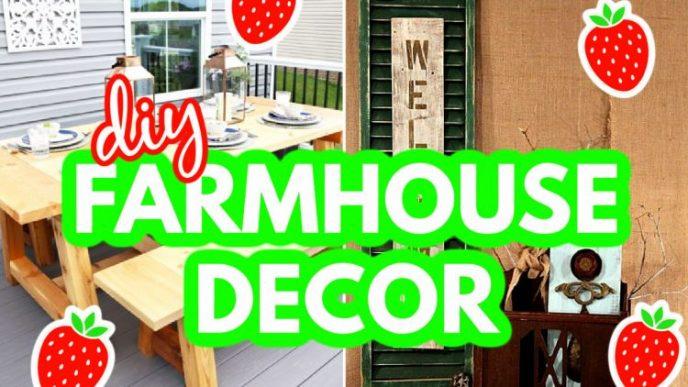 DIY farmhouse decor you can make at home.