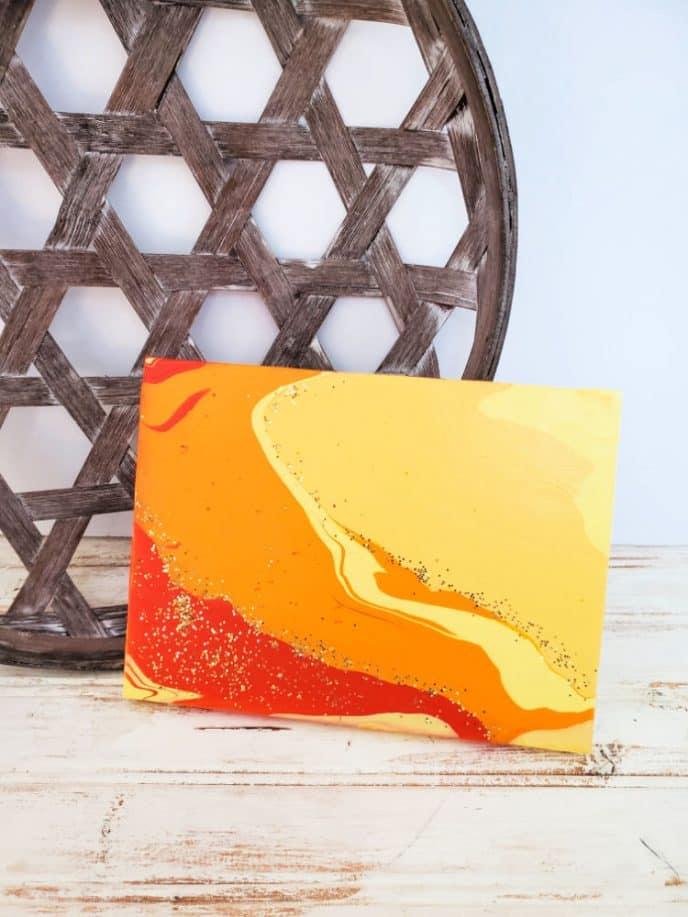 Acrylic paint pour art.