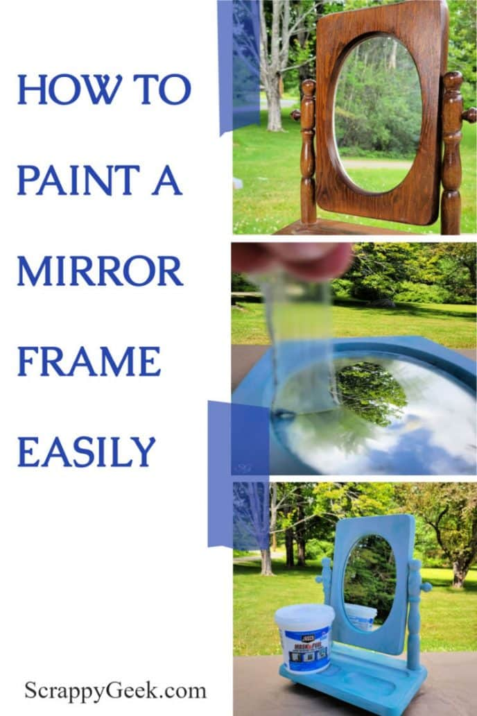 Painting a mirror frame collage